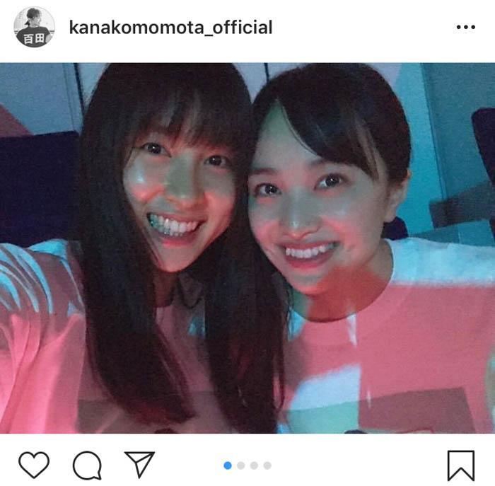 ももクロ・百田夏菜子、土屋太鳳と「約束のステージ」2ショットを公開!