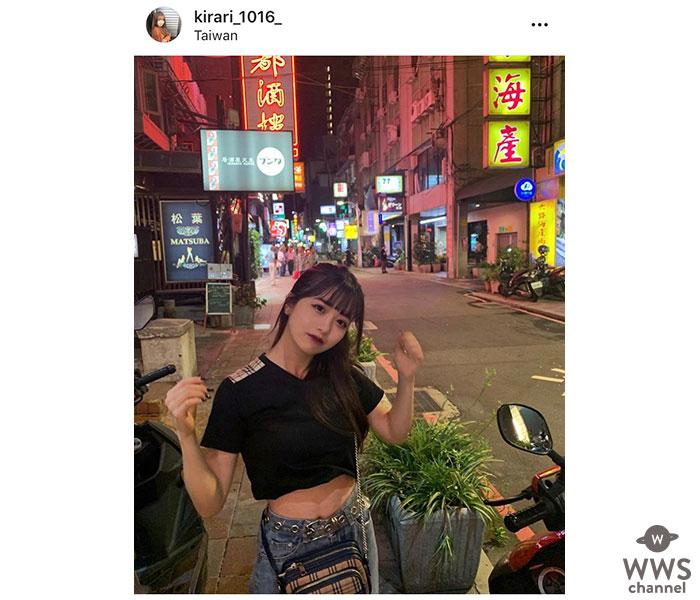 【天使すぎる小悪魔】Kirariが台湾のプライベートショットを公開!キュートなポニテショットに絶賛の嵐