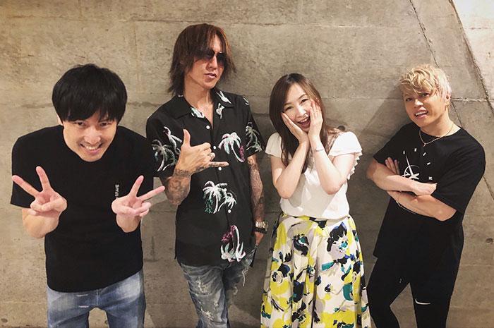 SUGIZO、ガンダムフェス出演の西川貴教、森口博子との集合写真を投稿!「超レアな時間。最高でした」