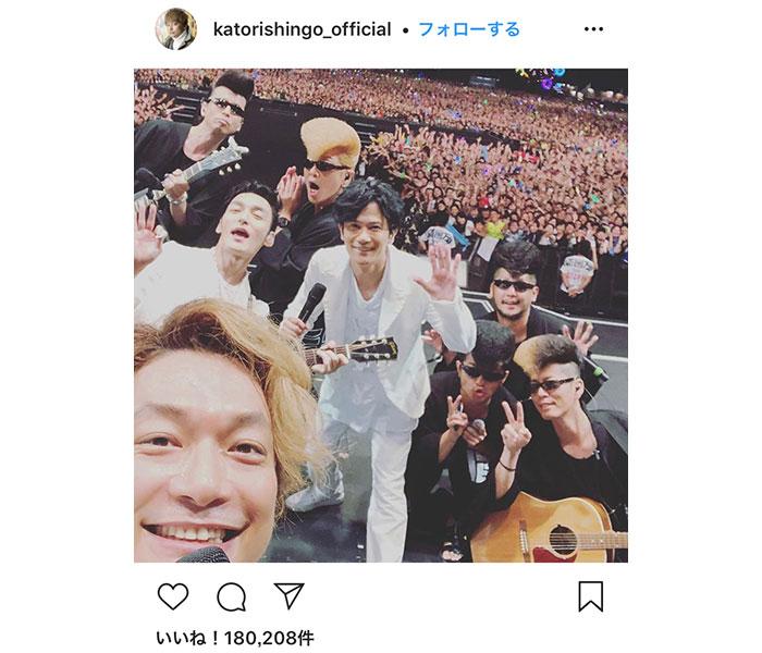 香取慎吾、初参加の「氣志團万博2019」で氣志團とコラボ!「存在感。圧巻でした」