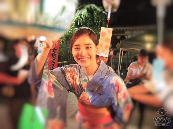 新木優子、「本当にお祭りに来た気分」美麗な浴衣姿の撮影オフショットにファン悶絶!!「とっても綺麗」