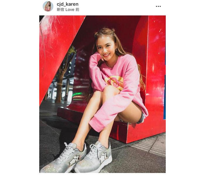 CYBERJAPAN・KARENのピンクパーカーショットが可憐で話題!「笑顔がかわいい」「清潔感半端ない」