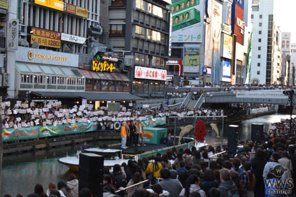 GENERATIONS、デビュー7周年&ニューアルバム発売記念イベントを大阪道頓堀で開催!