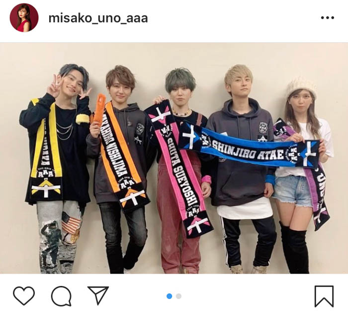 AAA・宇野実彩子が東京ドーム3Daysのメンバー集合写真を公開!「夢のようにあっという間だった」