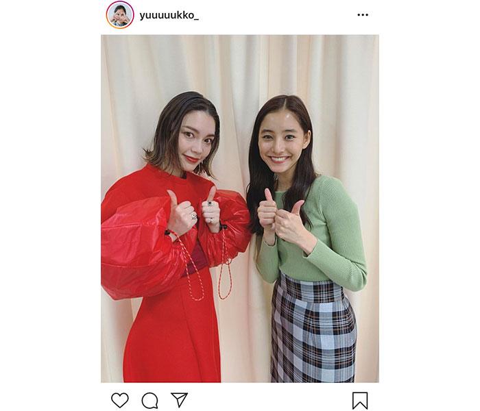 新木優子が『モトカレマニア』OP曲を歌う安田レイとの2ショット公開!「この曲大好き」「めちゃハマってます!」と反響も
