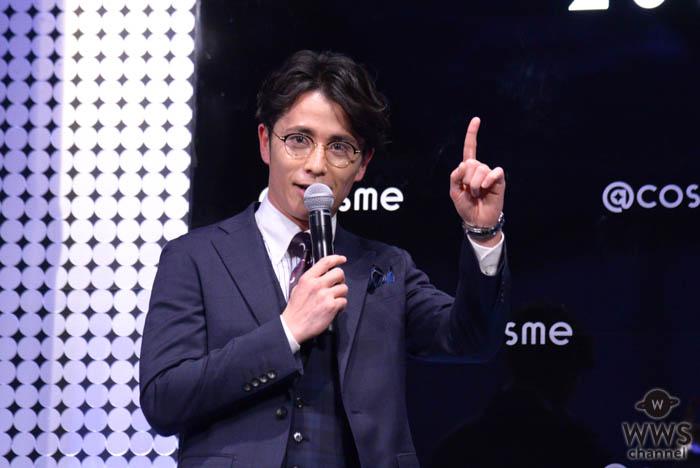 オリラジ・藤森慎吾が「@cosmeビューティアワード2019」の授賞式で美容男子トークで盛り上げ!