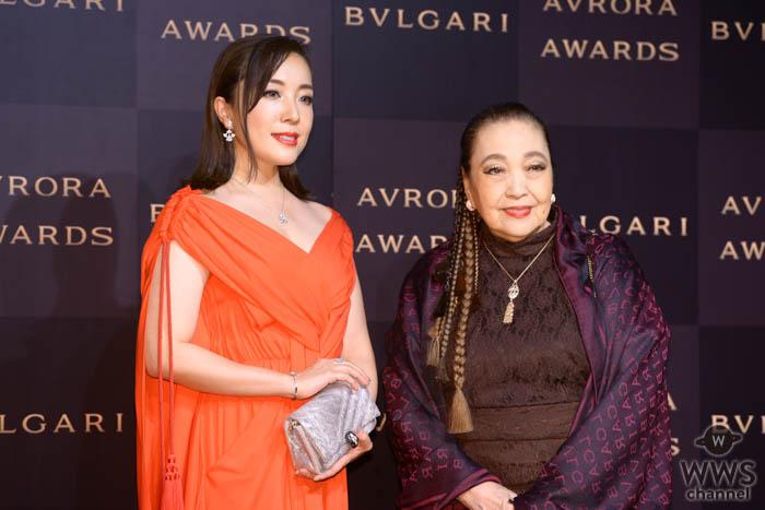 平原綾香が「ブルガリアウローラ アワード」のフォトコールに登場!<BVLGARI AVRORA AWARDS 2019>