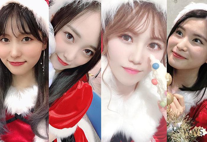 AKB48 向井地美音ら15期生がサンタコス写真を続々投稿!込山榛香は「もう何も着てないも同然サンタ」!?