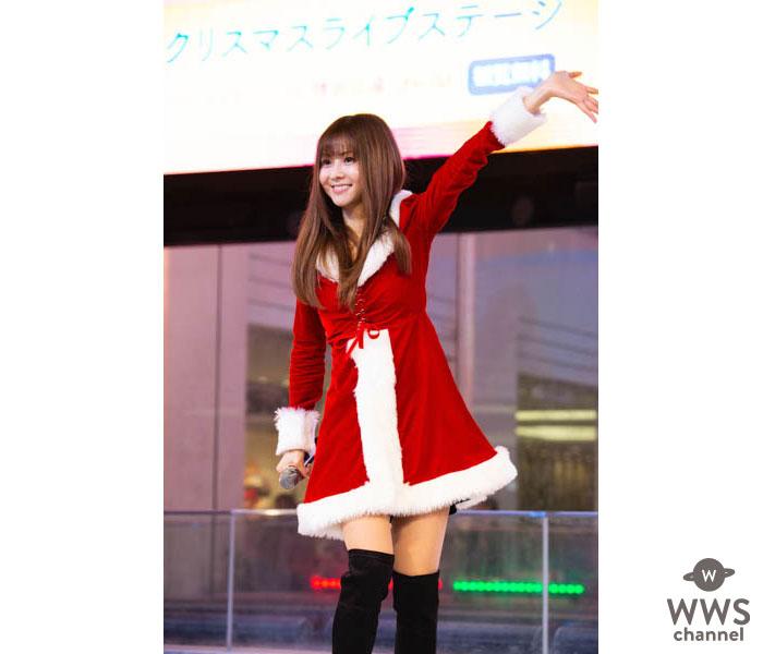 倉木麻衣、クリスマスイブにサンタ姿でリリイベ登場