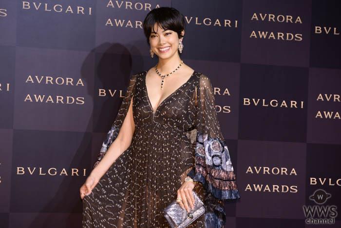 森星が「ブルガリアウローラ アワード」のフォトコールに登場!<BVLGARI AVRORA AWARDS 2019>