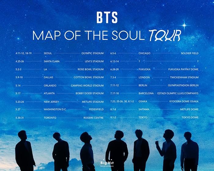 BTS、全世界スタジアム規模ツアー1次都市発表!韓国-北米-ヨーロッパ-日本37公演のスタジアム規模ライブ!!