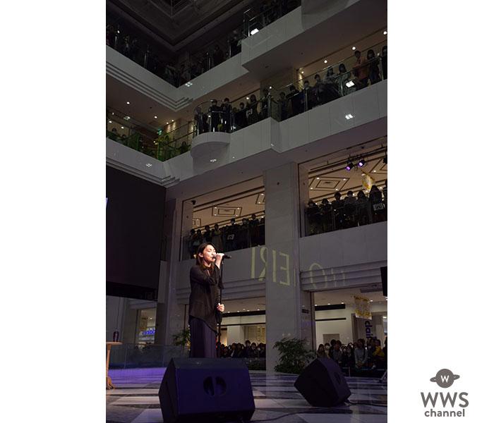 家入レオ、スペシャルフリーイベントにて月9ドラマ主題歌「未完成」をライブ初披露!さらにライブハウスツアーのの開催をサプライズ発表!