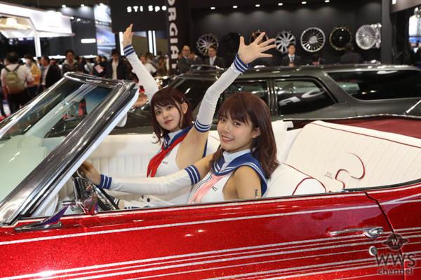 【動画】FORGIATO JAPANブースでストリート系美女&クラシックカーをサーキットクイーン・朝陽唯、萩ゆりのがレポート!<東京オートサロン2020>