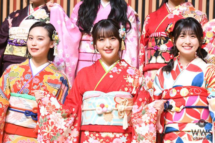 HKT48 田島芽瑠、松岡はならが成人式に出席!笑顔が絶えない会見の最後には・・・?<AKB48グループ成人式>