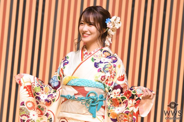 NMB48 小嶋花梨、成人式前日まで髪色がピンクに「気分転換に色気のある女になりたいと思って」<AKB48グループ成人式>