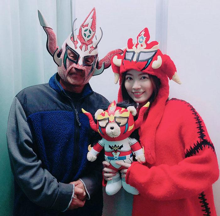 SKE48 松井珠理奈、引退試合を終えた獣神サンダー・ライガーを激励「素敵な背中を見せられるよう頑張ります」
