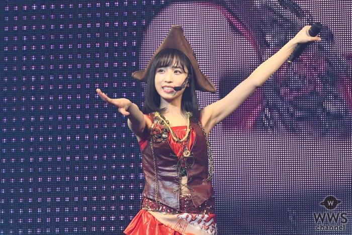 AKB48 小栗有以、前田敦子の憧れ衣装で『ラッキーセブン』歌唱!「ぬくもりやパワーをいただいてます」<小栗有以ソロコンサート>