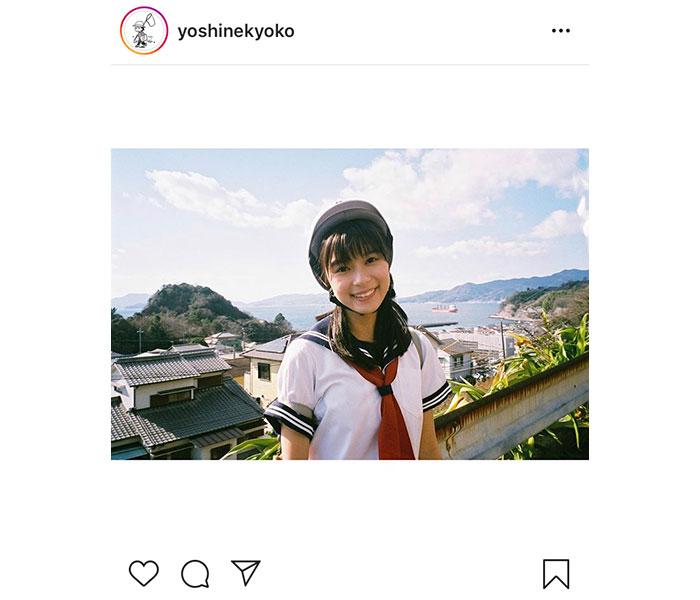 芳根京子、公開中の「記憶屋」からセーラー服オフショット公開!「ヘルメット姿かわいい」「お似合い過ぎです」