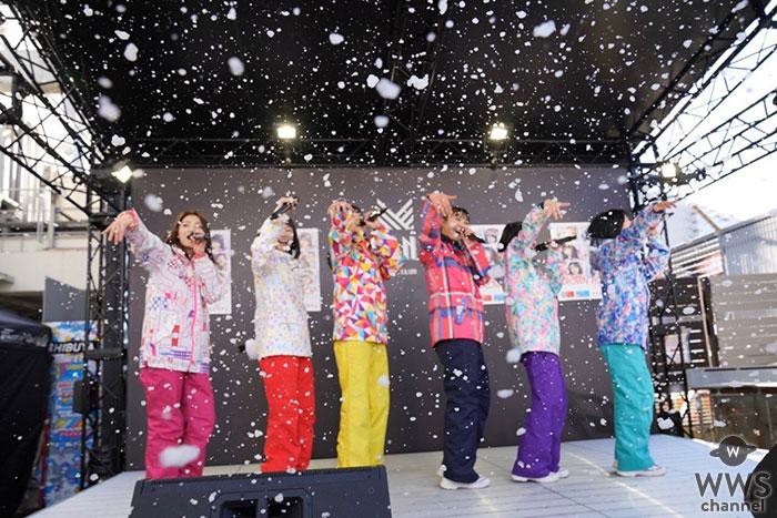 CROWN POP、渋谷の屋上で雪が降る中サードシングル「真っ白片思い」を披露!!