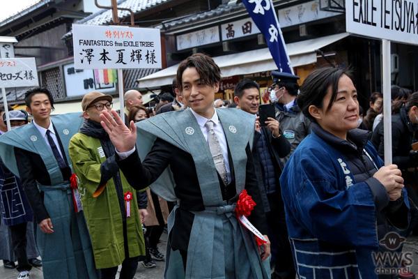 EXILE ÜSA、MAKIDAIら善光寺で節分会に参加!長野出身の澤本夏輝、会場の声援に「ライブで恩返ししていきたい」
