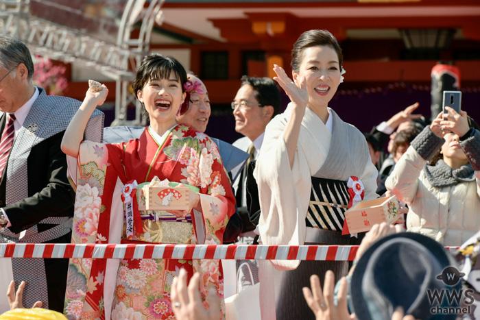 真矢ミキ、井頭愛海と東京・日枝神社で節分祭に参加!「1番清々しい気持ちに」