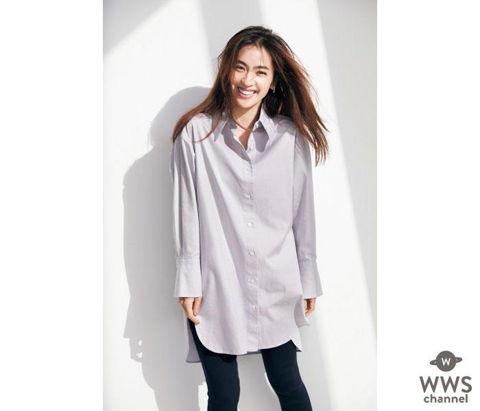 中村アン、レディスブランド『23区』とのコラボ第2弾。大人の女性のためのロングシャツ販売