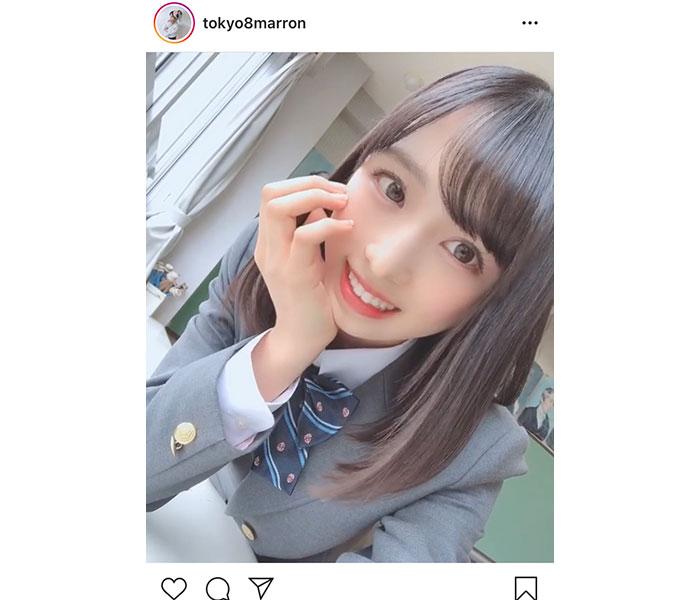 AKB48 小栗有以、高校卒業前に制服衣装の写真を公開!「透明感がすごい」「残りの高校生活楽しんでくださいね」