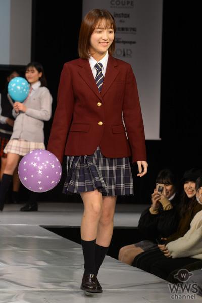 元NGT48 高沢朋花が「第7回 日本制服アワード」のランウェイに登場