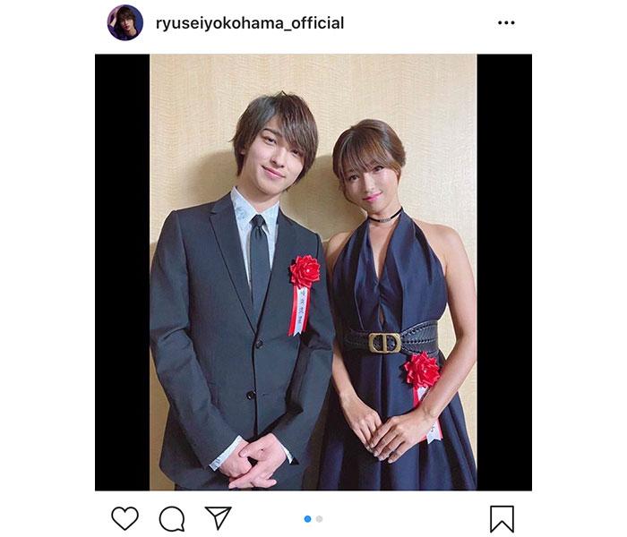 横浜流星、エランドール賞で深田恭子と「はじこい」2ショット公開!「最高です」「お似合いの二人」