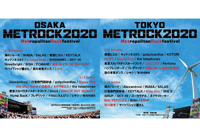 King Gnu、宮川愛李、たけやま3.5の参加決定!METROCK(メトロック)第6弾出演者が発表