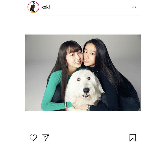 Koki, 、デビューした姉・Cocomiとの最強2ショット公開「美人姉妹すぎ」「遺伝子すごい」