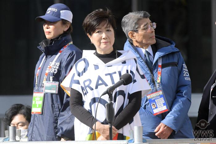 東京マラソン2020開幕!小池都知事、開会宣言で「エールを選手のみなさまに送って欲しい」