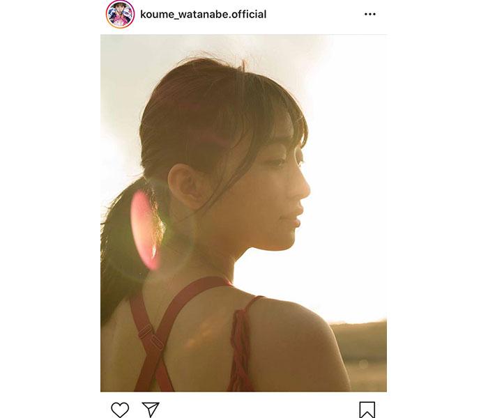 SUPER☆GiRLS(スパガ)渡邉幸愛が夕陽バックのエモーショナル美麗カット公開!