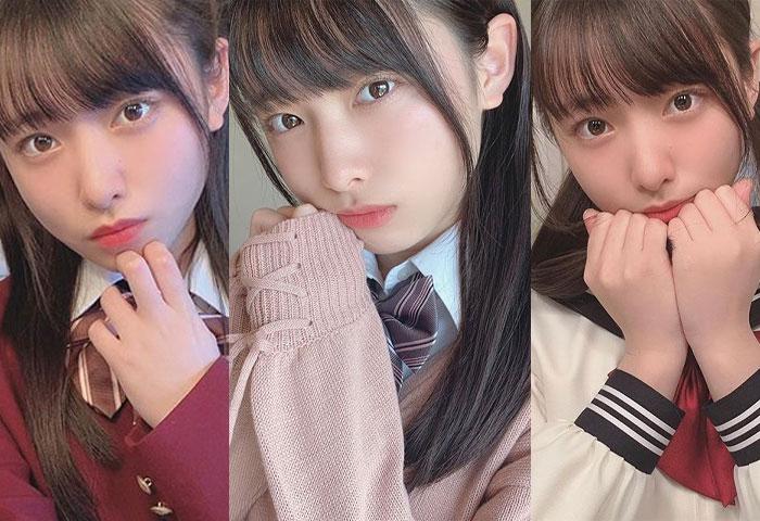 AKB48 久保怜音、「どの制服姿が好きですか?」3種の制服ショットが話題