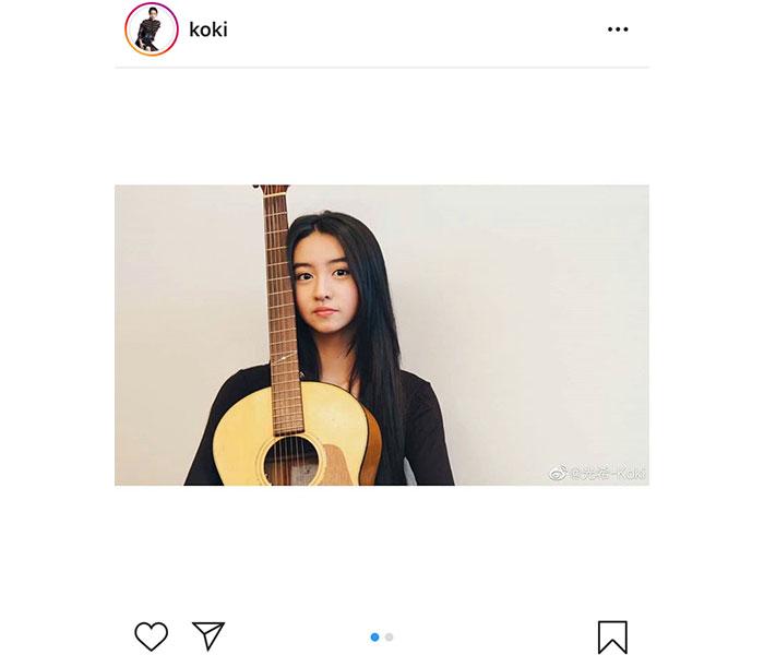 Koki,、父・木村拓哉からギターを習う!「たっくんにギター教えてもらってるのね」「セッションしている様子見てみたいなぁ~」