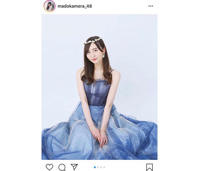 HKT48 森保まどか、まるで普段着!ドレス衣装を着こなす姿に「本物のお姫様やん!」