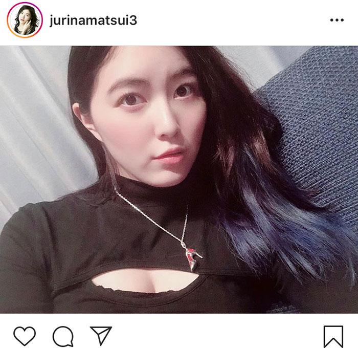 SKE48 松井珠理奈が胸元セクシーな私服で山内鈴蘭とインスタライブを配信!