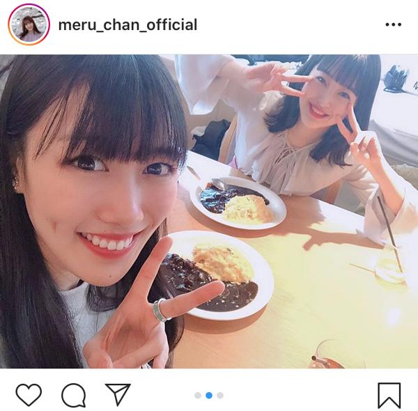 HKT48 田島芽瑠、ももクロ 高城れにと「れにめる」2ショット公開「嬉しすぎるコラボ」「最高すぎるわ」