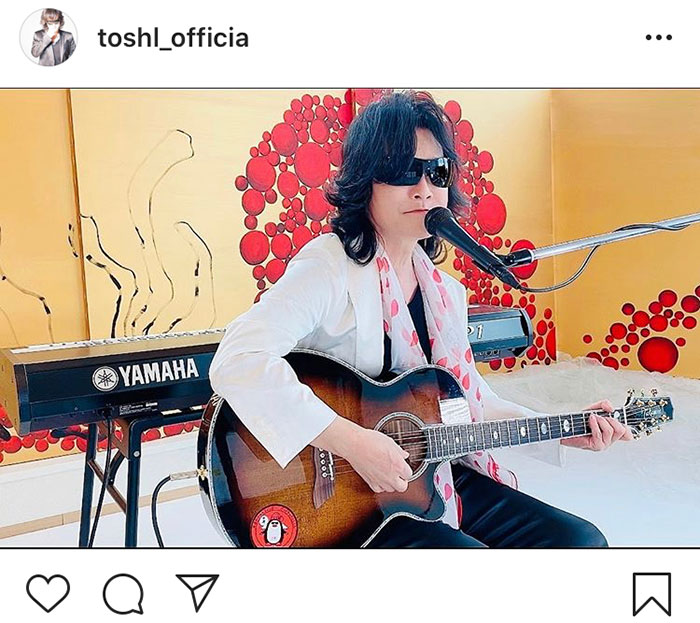 Toshl、「今こそ最大限に音楽を楽しんで」音楽の力を熱弁