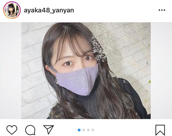 NMB48 山本彩加が自作マスクの製作動画を公開「マスク着用での感染予防対策を」
