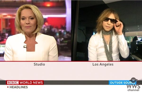 X JAPAN YOSHIKI、英BBC出演で訴え「ファンや友達を本当に救いたいんです」