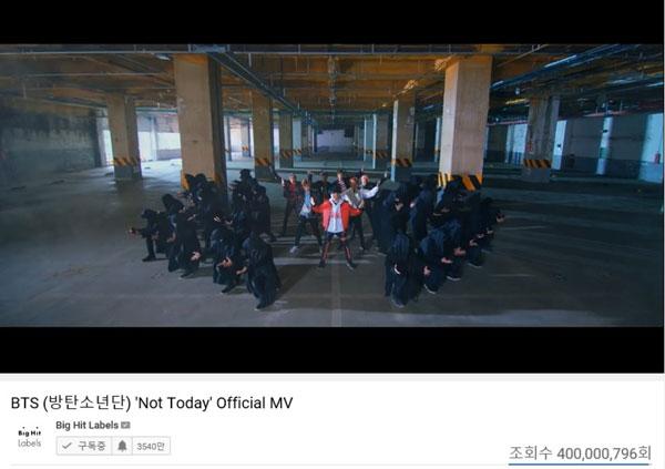 BTS(防弾少年団)、『Not Today』MVが4億再生突破