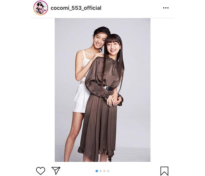 Cocomi、誕生日に妹・Koki,と変顔2ショット公開!「 全力の変顔 最高!」「木村姉妹ほんと好き」