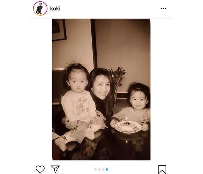 Koki,、姉・Cocomiの誕生日にメッセージ「最高の友達、世界一美しい人」