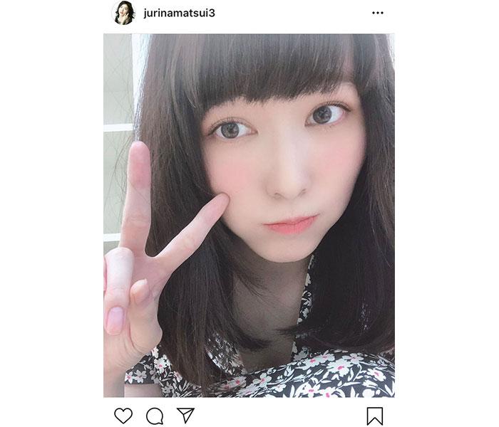 SKE48 松井珠理奈、6年ぶりの「前髪ぱっつん」ショットに反響!「さすがは名古屋の女神」