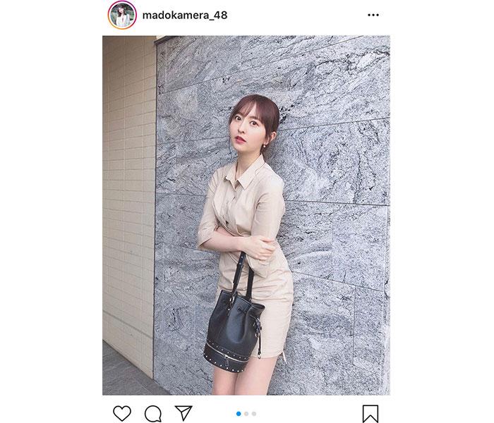 HKT48 森保まどか、美脚がまぶしいセールスレディ風のコーデを紹介!「超絶綺麗&美人」「仕事できそう」