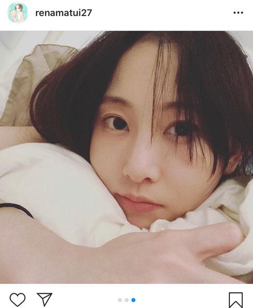 松井玲奈、リラックスしたおうち写真を公開「美人すぎ」「雰囲気がよき」