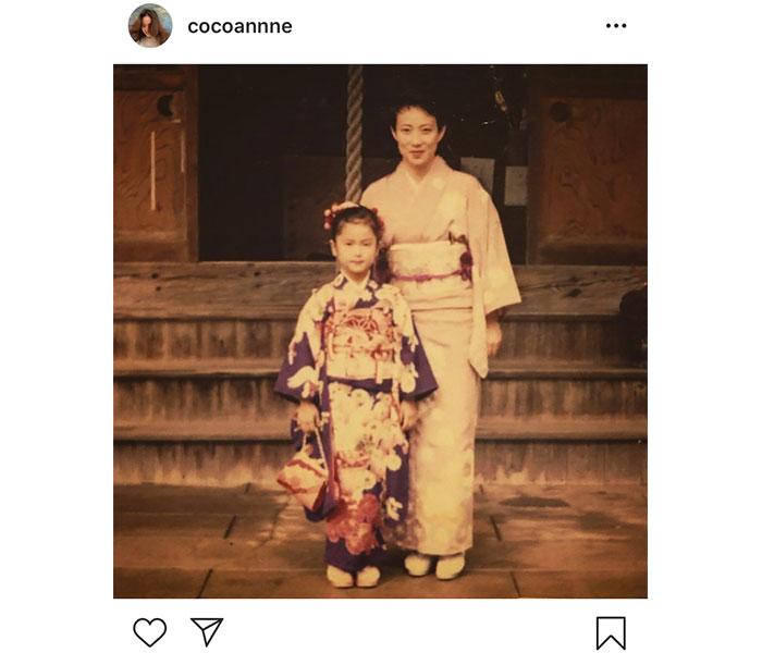 中村アン、幼少期の七五三写真を公開「貴重な写真」「お母さんにとても似てますね」