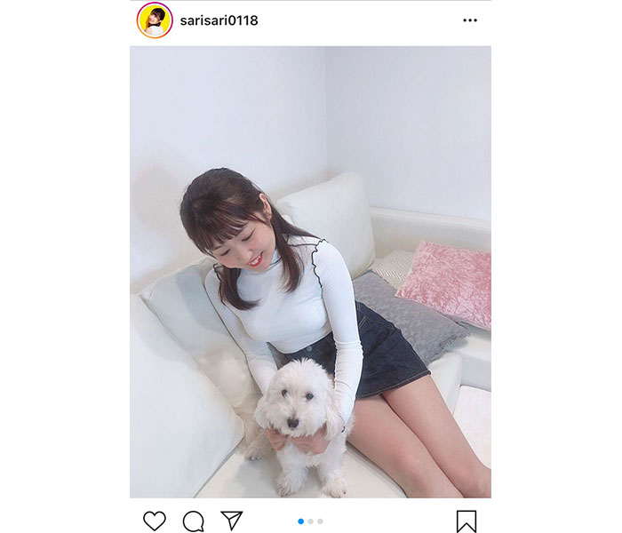 SKE48 惣田紗莉渚、さりげない美脚披露に「さすがさりちゃん」「ファンサービスに感謝」と反響