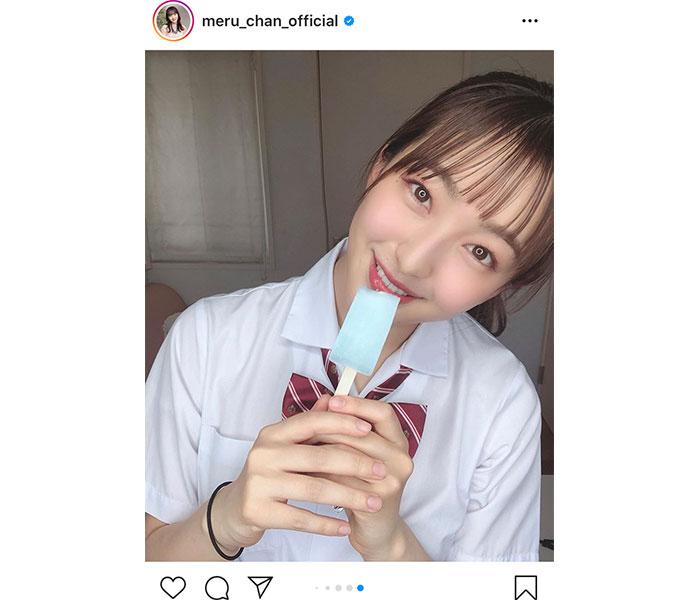 HKT48 田島芽瑠が夏服制服と共に青春の妄想シチュエーションを大公開!「こんな青春見て見たかった」